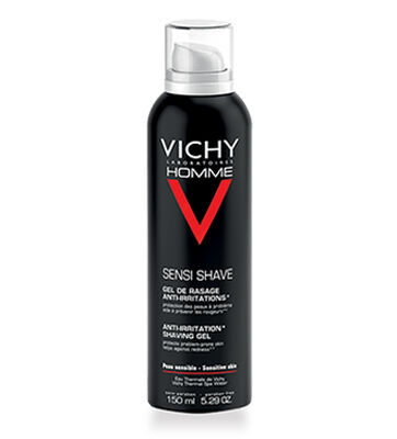 Vichy\\\'s shaving foam contains a unique combination of ingredients, including Calcium, Vitamin C and Salicylic Acid, to prevent skin from the chafing that is caused by shaving. This foaming formula protects the skin\\\'s barrier and prevents rubbing and chafing. Its non-drying formulation protects and cleanses your skin and keeps skin protected and deeply hydrated.