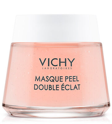 Vichy\\\'s first face mask with volcanic rocks and AHA fruit acids to gently peel off dead cells through a double-peel action for refined skin texture and luminous skin.