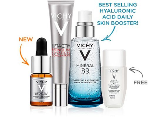 Vitamin C + Retinol + Hyaluronic Acid Anti-Aging Set - Vichy Skin Care