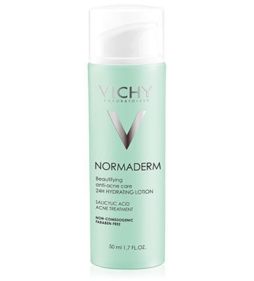 Normaderm Beautifying Anti-Acne Care is Vichy\\\'s most powerful anti-blemish moisturizer, shown to fight signs of blemish-prone skin. Enriched with [Air Licium + Phe Resorcinol] technology to help skin feel hydrated while looking radiant and beautiful.