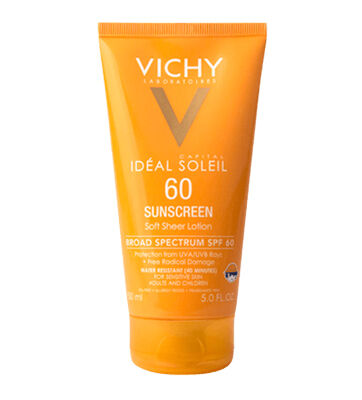 Soft, sheer sunscreen lotion with multi-layer protection from UV rays & free-radical damage.