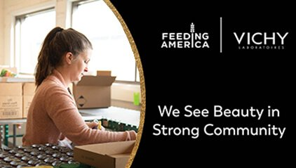 We see beauty in strong community - feeding America